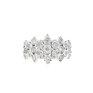 Other 10k Two-tone Diamond Cluster