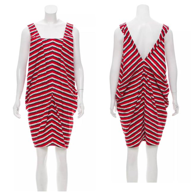 Preload https://img-static.tradesy.com/item/23995978/saint-laurent-red-striped-printed-short-casual-dress-size-8-m-0-0-650-650.jpg