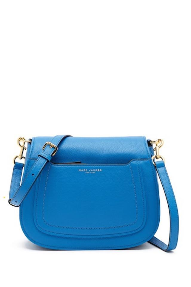 8f22a0db7cb1 Marc Jacobs Empire City Messenger Aegean ( Blue ) Leather Exterior Fabric  Lining Cross Body Bag