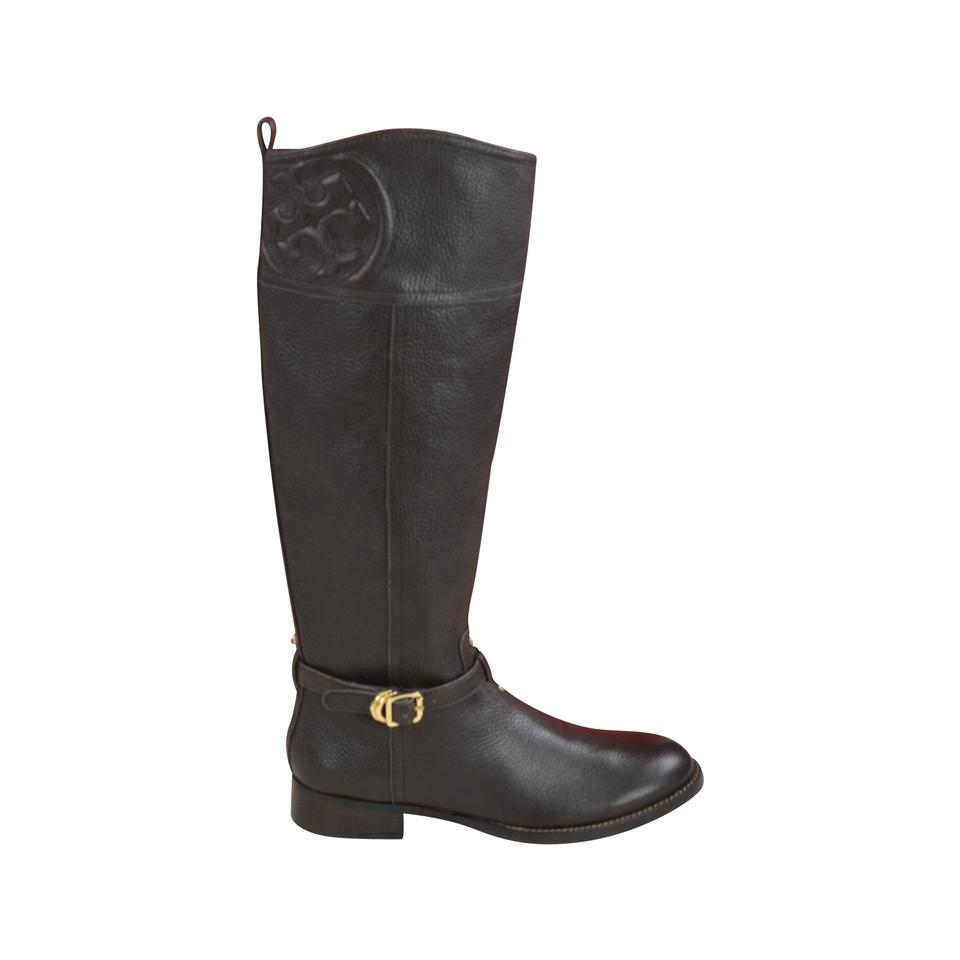 feddeaec338 Tory Burch Coconut Marlene Riding Tumbled Leather Boots Booties Size US 7  Regular (M