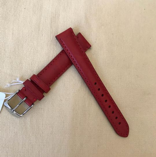 Michele NWT MICHELE WATCH STRAP 16mm Red MS16AA270600 Image 1