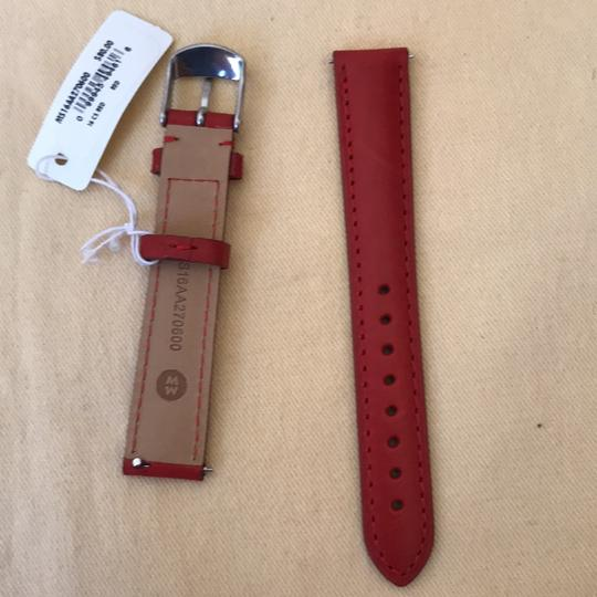 Michele NWT MICHELE WATCH STRAP 16mm Red MS16AA270600 Image 11