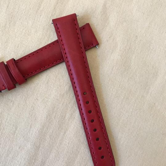 Michele NWT MICHELE WATCH STRAP 16mm Red MS16AA270600 Image 2