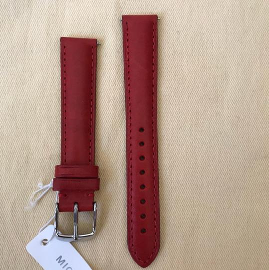 Michele NWT MICHELE WATCH STRAP 16mm Red MS16AA270600 Image 3