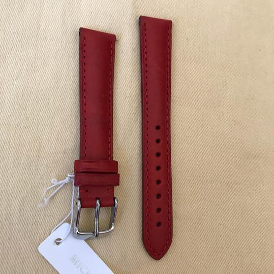 Michele NWT MICHELE WATCH STRAP 16mm Red MS16AA270600 Image 4