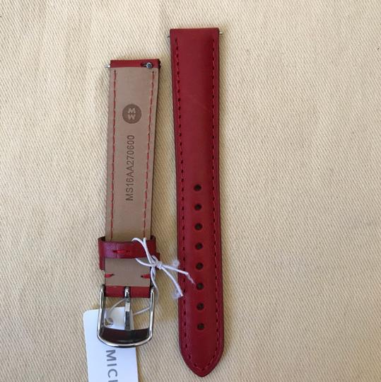 Michele NWT MICHELE WATCH STRAP 16mm Red MS16AA270600 Image 5