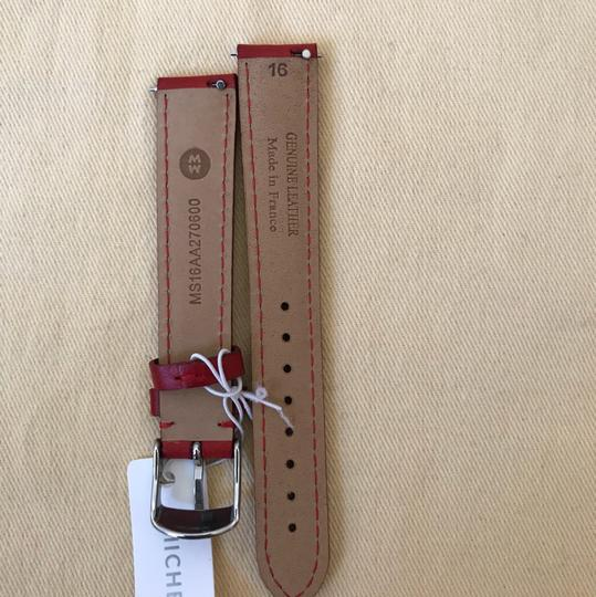 Michele NWT MICHELE WATCH STRAP 16mm Red MS16AA270600 Image 6