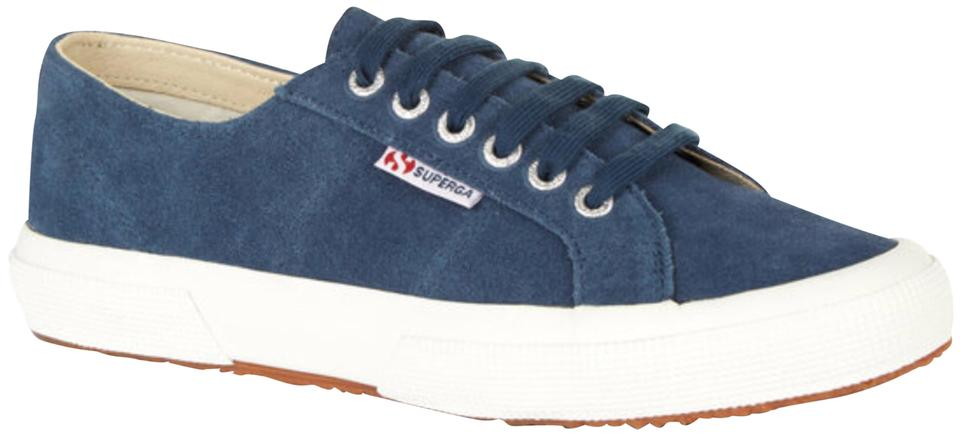 Superga Blue Suede Suede Blue Sneakers Trainers Sneakers 9e3790