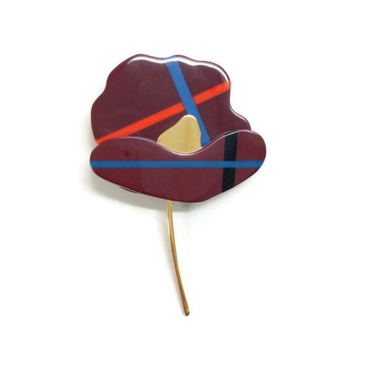 Preload https://img-static.tradesy.com/item/23996143/marni-dark-red-multi-flower-brooch-0-0-540-540.jpg