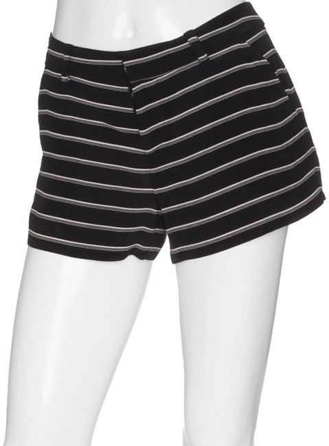Joie Black Striped Silk Mid Rise Shorts Size 4 (S, 27) Joie Black Striped Silk Mid Rise Shorts Size 4 (S, 27) Image 1