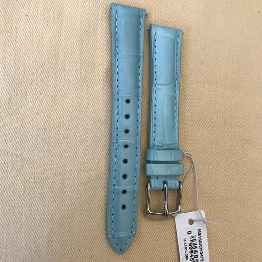 Michele Size 16mm NWT Pastel Green Alligator Watch Straps MS16AA010472 Image 1