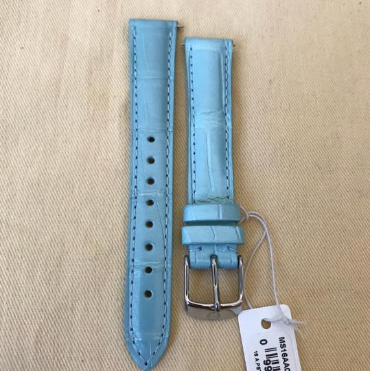 Michele Size 16mm NWT Pastel Green Alligator Watch Straps MS16AA010472 Image 2