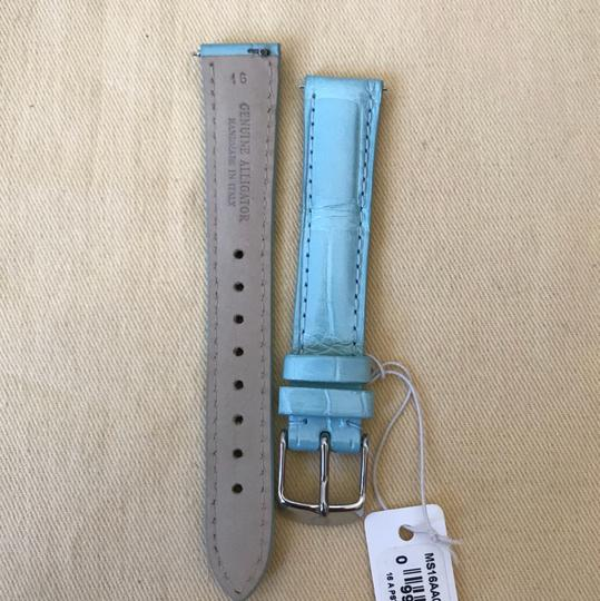 Michele Size 16mm NWT Pastel Green Alligator Watch Straps MS16AA010472 Image 5