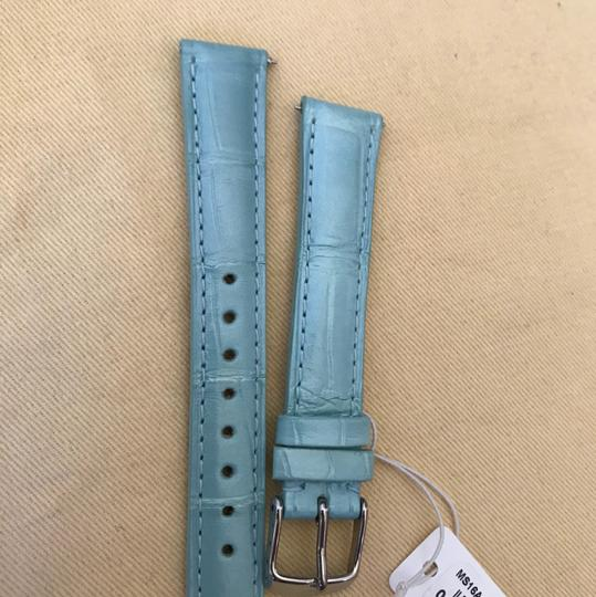Michele Size 16mm NWT Pastel Green Alligator Watch Straps MS16AA010472 Image 7