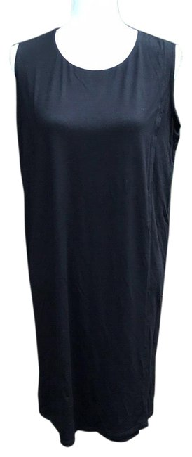 Preload https://img-static.tradesy.com/item/23996280/eileen-fisher-black-r6vf-d0936m-mid-length-short-casual-dress-size-petite-4-s-0-1-650-650.jpg