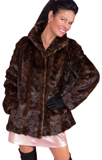 Item - Brown Mahogany Quality Mink Jacket Med - Large Coat Size 14 (L)