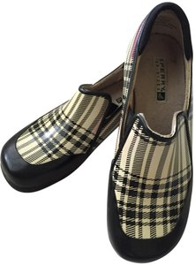 Sperry Rain Tip Sider Burberry style black and cream plaid Boots