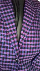 Jones New York Houndstooth Purple/Black Purple/Black Blazer