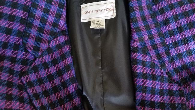 Jones New York Houndstooth Purple/Black Purple/Black Blazer Image 7