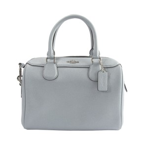 Coach Dome Leather Glitter Satchel in Blue