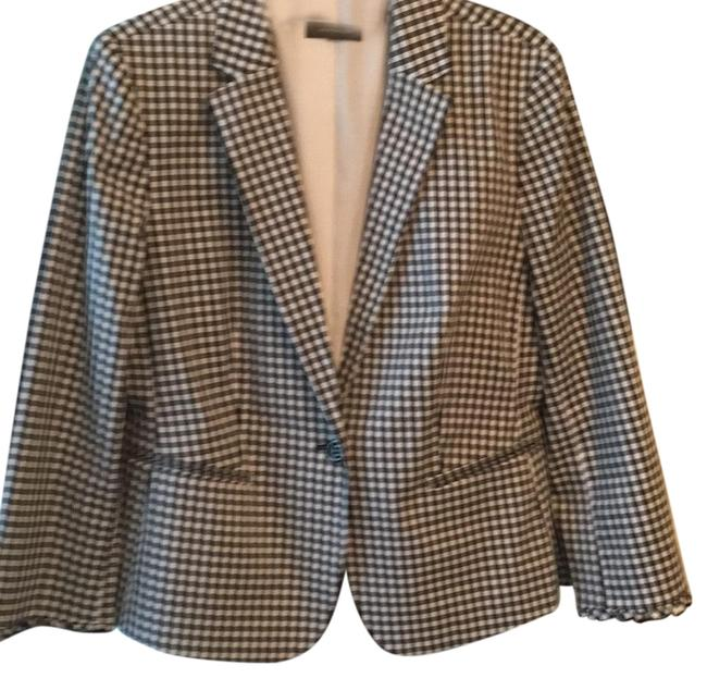Ann Taylor Blank White Check Business Or Casual Blazer Size 14 (L) Ann Taylor Blank White Check Business Or Casual Blazer Size 14 (L) Image 1
