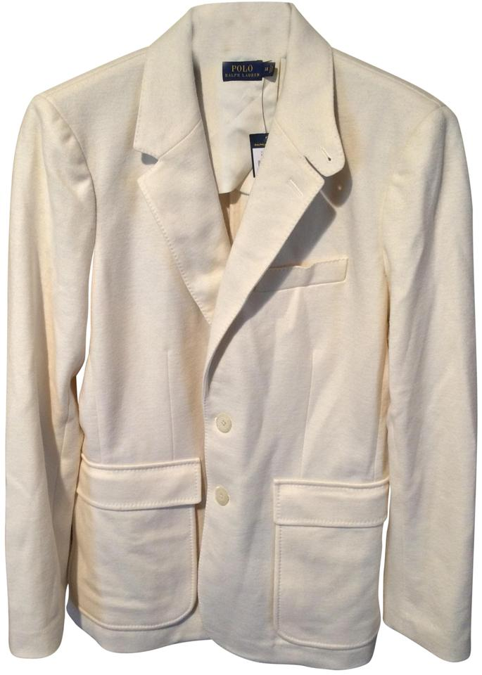 a1a3fea99aad Polo Ralph Lauren Ivory White Cream Two-button Wool Jacket Blazer ...