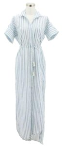 White Blue Maxi Dress by Faithfull the Brand