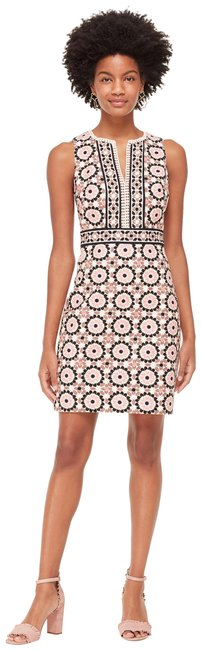 Item - Pearl Pink Floral Mosaic Jacquard New 2018 Short Cocktail Dress Size 2 (XS)
