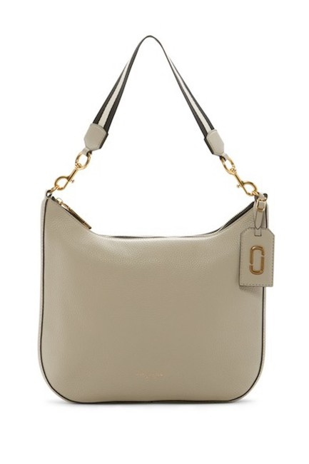 Marc Jacobs Gotham City Beige Leather Exterior Textiling Lining Hobo Bag Marc Jacobs Gotham City Beige Leather Exterior Textiling Lining Hobo Bag Image 1