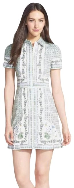 Tory Burch Talia Floral Botanical Garden Party Shirtdress Short Casual Dress Size 4 (S) Tory Burch Talia Floral Botanical Garden Party Shirtdress Short Casual Dress Size 4 (S) Image 1