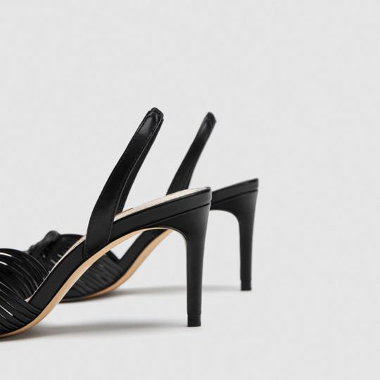 Zara Black Sandals Image 1