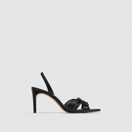 Zara Black Sandals Image 2
