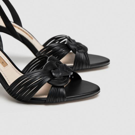 Zara Black Sandals Image 3