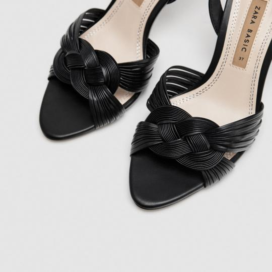 Zara Black Sandals Image 5