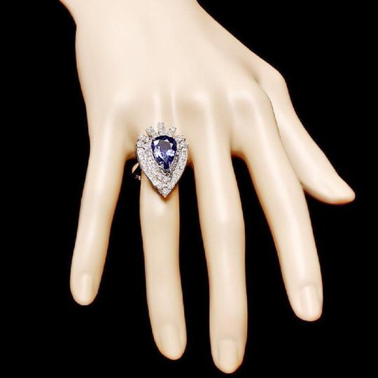 Other 7.20 Carats NATURAL TANZANITE and DIAMOND 14K Solid White Gold Ring Image 2