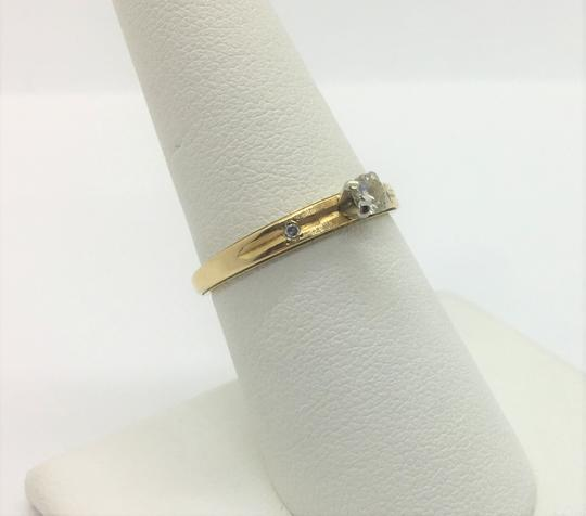 Other 14k Yellow Gold and .12ct Round Cut Diamond Engagement Ring Size 7.5 Image 1