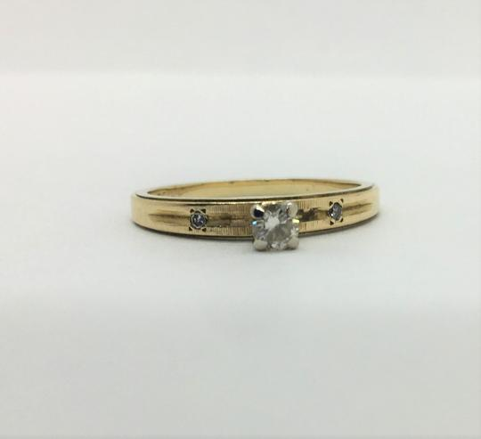 Other 14k Yellow Gold and .12ct Round Cut Diamond Engagement Ring Size 7.5 Image 4