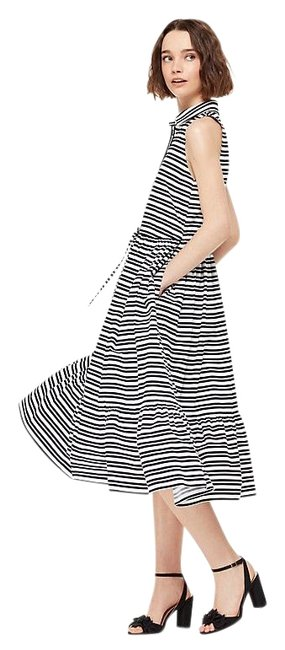 Kate Spade Navy Candy XS Striped Midi Shirt New Mid-length Cocktail Dress Size 6 (S) Kate Spade Navy Candy XS Striped Midi Shirt New Mid-length Cocktail Dress Size 6 (S) Image 1