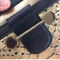 Gold and Black Leather Cross Body Bag Gold and Black Leather Cross Body Bag Image 5