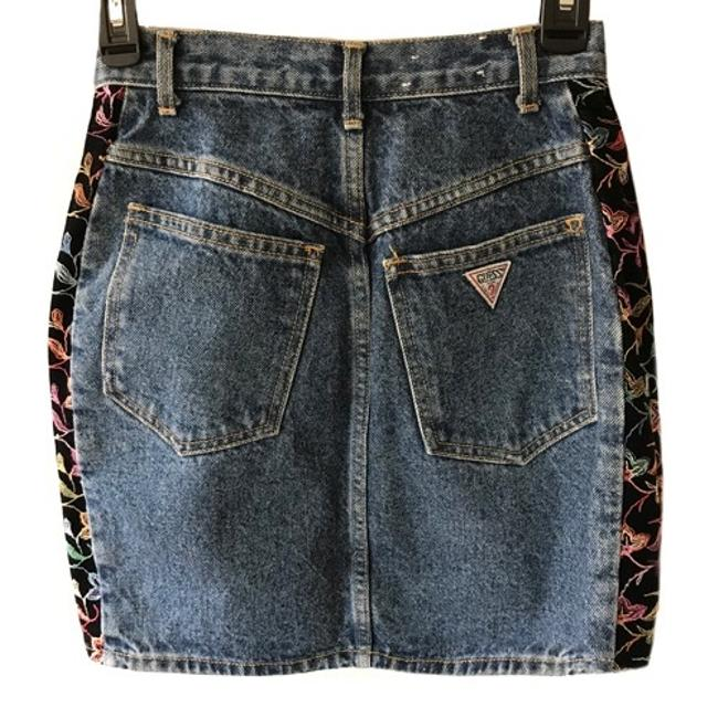 Guess By Marciano Embroidered Music Festival Hippie Skirt denim Image 1