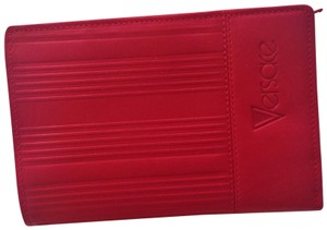 Versace GIANNI VERSACE Woman's vintage red leather wallet Made in Italy