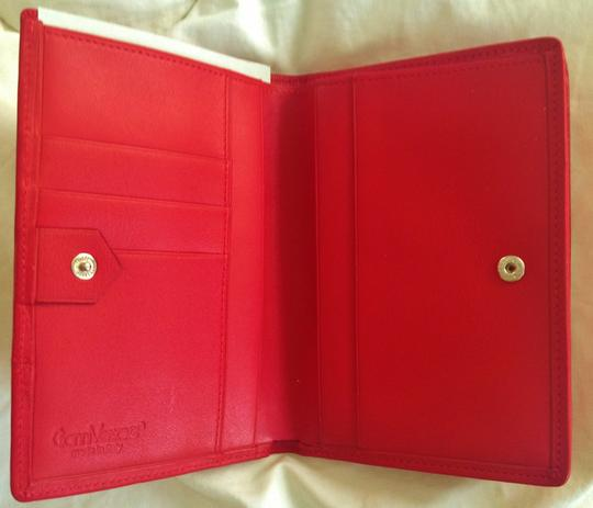 Versace GIANNI VERSACE Woman's vintage red leather wallet Made in Italy Image 3