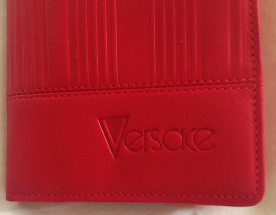 Versace GIANNI VERSACE Woman's vintage red leather wallet Made in Italy Image 4