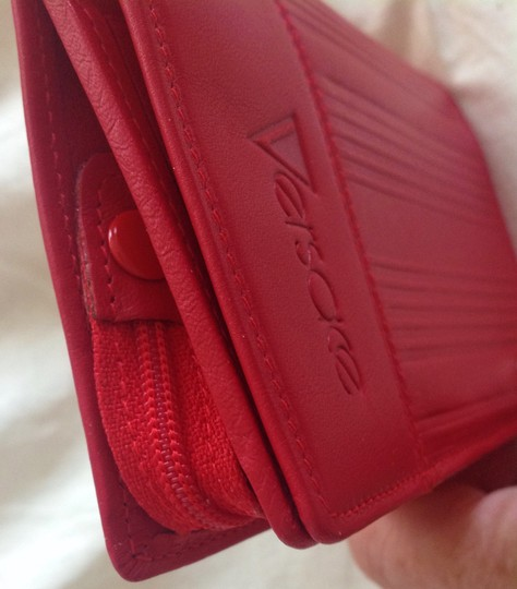 Versace GIANNI VERSACE Woman's vintage red leather wallet Made in Italy Image 5
