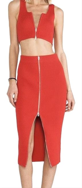 Preload https://img-static.tradesy.com/item/23996946/t-by-alexander-wang-zip-crop-and-pencil-skirt-red-top-0-1-650-650.jpg
