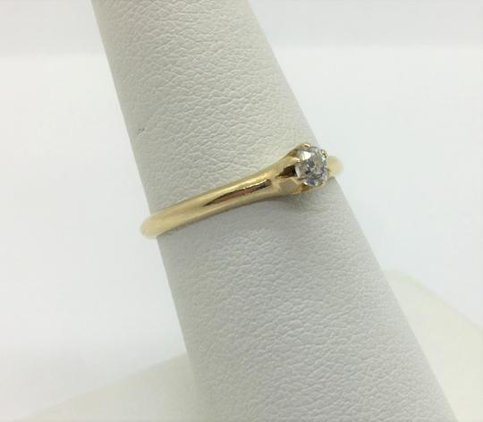 Other 14k Yellow Gold and .12ct Round Cut Diamond Engagement Ring Siz Image 2