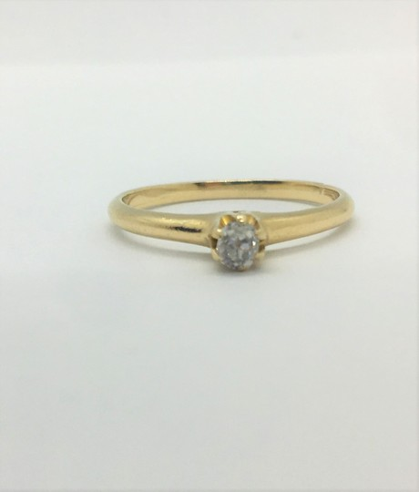 Other 14k Yellow Gold and .12ct Round Cut Diamond Engagement Ring Siz Image 3