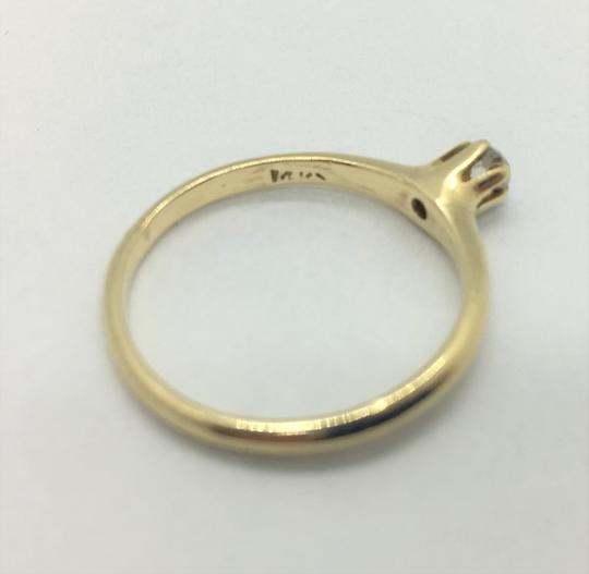 Other 14k Yellow Gold and .12ct Round Cut Diamond Engagement Ring Siz Image 5