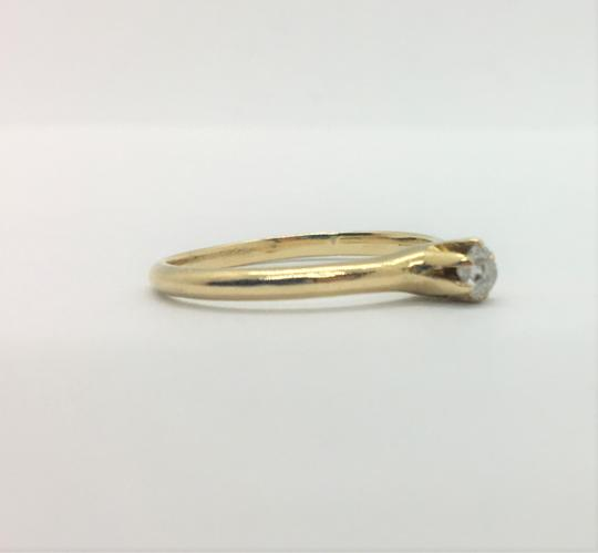Other 14k Yellow Gold and .12ct Round Cut Diamond Engagement Ring Siz Image 6