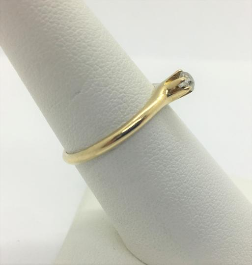 Other 14k Yellow Gold and .12ct Round Cut Diamond Engagement Ring Siz Image 7